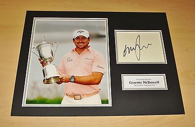 Graeme McDowell HAND SIGNED Autograph 16x12 Photo Display US Open 2010 + COA