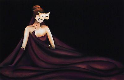 "PASCALE BIGOT ""Volupte"" woman ball gown SGD LTD ED! SIZE:29cm x 42cm NEW RARE"