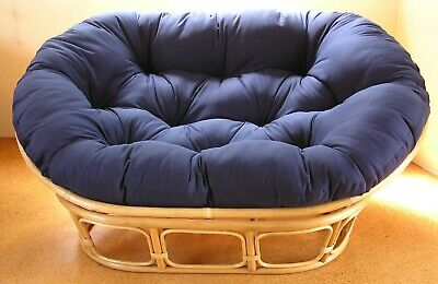 Double papasan cushion - extra thick with velcro tags, generous size