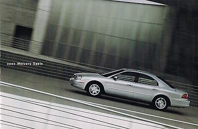 2002 Mercury SABLE Brochure / Catalog w/ Color Chart : GS,LS,Station Wagon,+ Mercury Sable Station Wagon