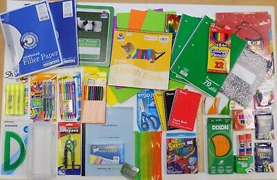 School Supplies Office Student Back To School Elementary Supplies Lot New Nip