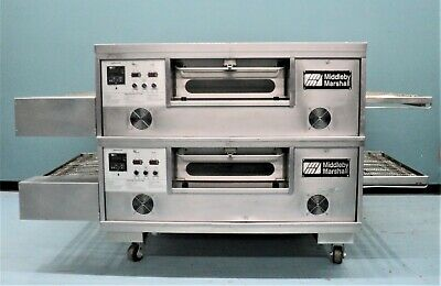 Middleby Marshall Pizza Conveyor Oven- Double Gas  Ps555g With Split Belt