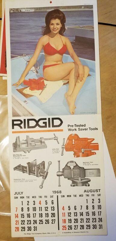 Rigid Tools Two-Year Calendar 1967-68 Vintage Rare Pin-Up