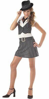 Mobsta Mobster Gangster Girl Tween Costume