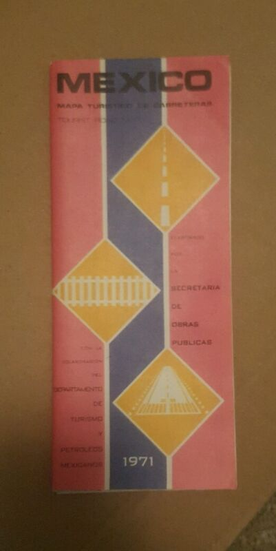 1971 Mexico Road Map...new condition