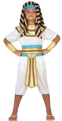Kostüm Junge Pharao 10/11/12 Jahre Kostüm Kind König Ägypten Egytien Neu ()