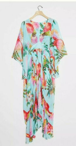 NEW Anthropologie Farm Rio Graciela Maxi Midi Dress Gorgeous XS NWT TROPICAL - $169.99