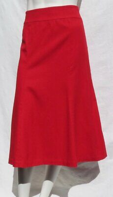 TALBOTS Italy Red Skirt Stretch Wool Long Midi A Line Flared Lined size S 6 EUC
