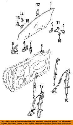 Dodge CHRYSLER OEM 91-96 Stealth Door-Window Regulator MB641281