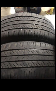 2 tires Bridgestone turanza 205.55.16 has 85% for $140