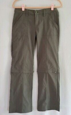 prAna Womens Breathe Gray Convertible Pants Size 6 EUC Prana-womens Convertible Pant