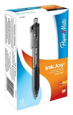 Nib Paper Mate Inkjoy 300rt Ballpoint Pens Medium Point Black Pack Of 12