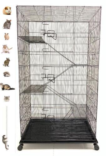"55"" Large 5-Levels Ferret Chinchilla Sugar Glider Rats Mice Degu Animal Cage"