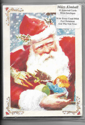 Set of 12 Assorted Christmas Cards and Envelopes by Miles Kimball