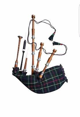 Folk & World Nice Scottish Great Highland Bagpipe Plain Silver Mounts Free Tutor Book Chanter Reed We Take Customers As Our Gods