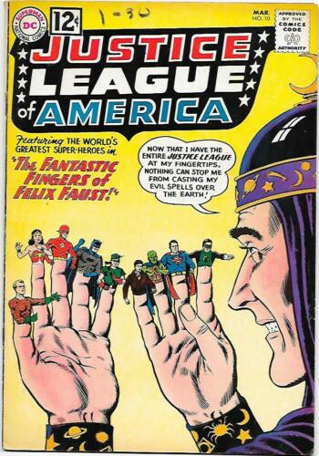 Justice League of America #10, DC 1962 Fox/Sekowsky 1st.Felix, Lord of Time VG+