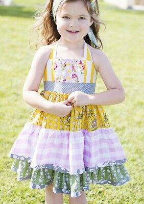 Be Girl Clothing Canary & Pink Halter Tieback Ruffle Dress Size 2T (Be Girl Clothing)