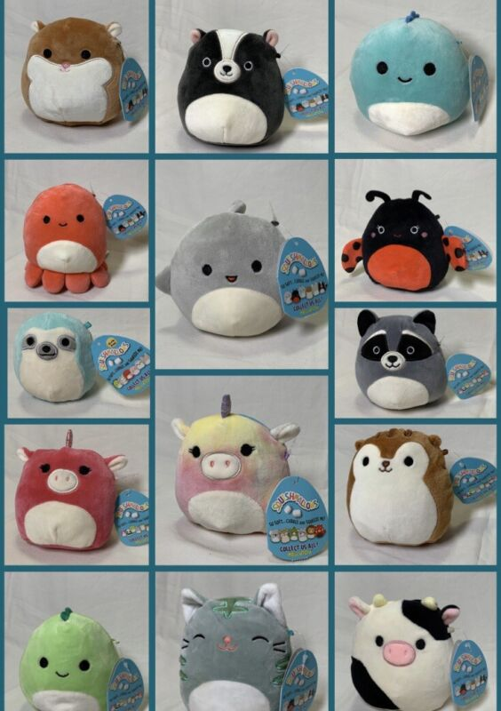 "Squishmallow 5"" Kellytoy Super Soft Plush Doll Pet (14 Styles)"