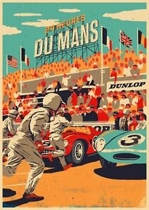 Vintage-Poster-Grand-Prix-F1-24-Le-Mans-24-Heures-du-Mans-Ristampa-1950-A2