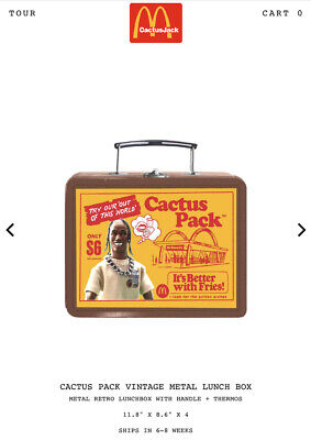 Travis Scott X McDonalds Metal Lunch Box & Thermos 100% GENUINE CONFIRMED