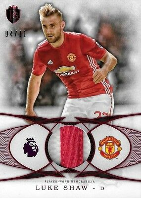2016 TOPPS PREMIER GOLD Luke Shaw Manchester United Red Jersey Relic Patch /11