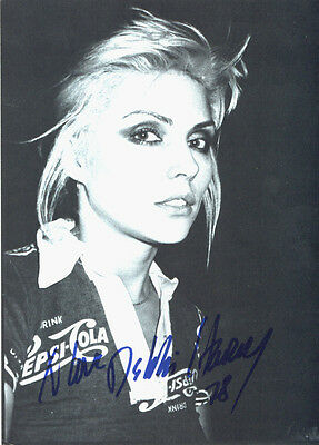 RARE Blondie Debbie Harry 5x7 Large Original 1979 Official Fan Club Postcard NEW