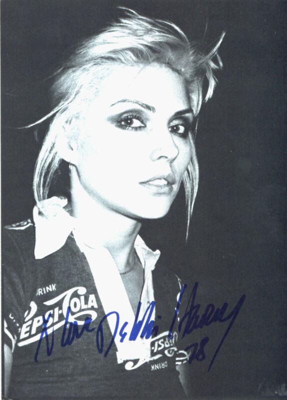 RARE Blondie Debbie Harry 5x7 Large Original 1979 Official Fan Club Postcard NEW