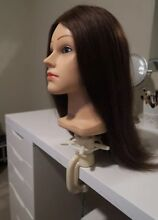 Hairdressing Trainkng Mannequin Human Hair with Stand Kellyville Ridge Blacktown Area Preview