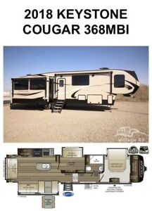 2018 Keystone Cougar MBI midbunk model