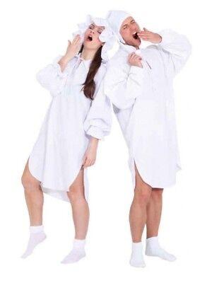 Nacht Hemd Schlaf Anzug Schlafhemd Pyjama Kostüm Nachthemd - Weißen Nachthemd Kostüm