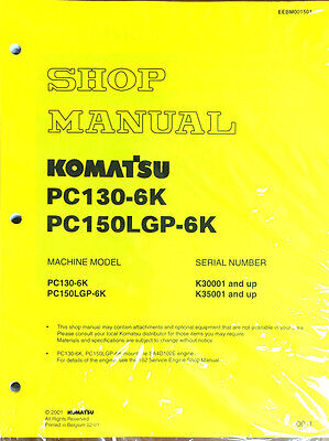 Komatsu Service Pc150lgp-6k Pc130-6k Shop Manual New