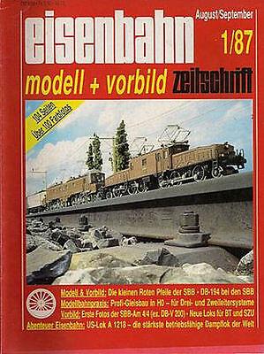 Eisenbahn Modell + Vorbild Heft 1 1987 Die kleinen Roten Pfeile der SBB