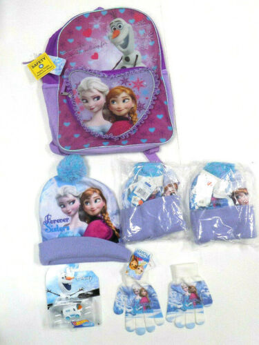 Disney Frozen Girls Backpack and Winter Hat Set - New with tags