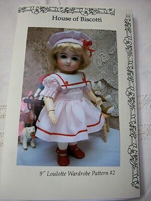 "9"" Loulotte Wardrobe  PATTERN  #2  Dresses, Pinafore, Undies  Bleuette Friend"