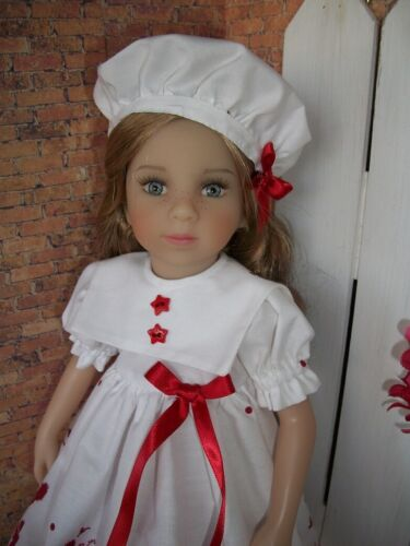 """13"""" Mini Maru  Red Sailor Dress and Hat Effner Little Darling No Doll"""