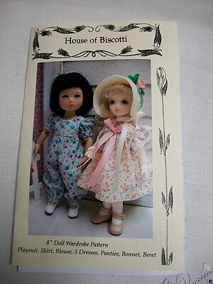 "8"" Doll Wardrobe PATTERN, Dresses, Hats, Playsuit,  Ten Ping BJD"