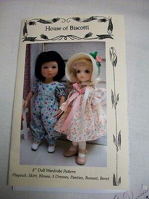 "8"" Doll Wardrobe PATTERN, Dresses, Hats, Playsuit,  Ten Ping BJD"