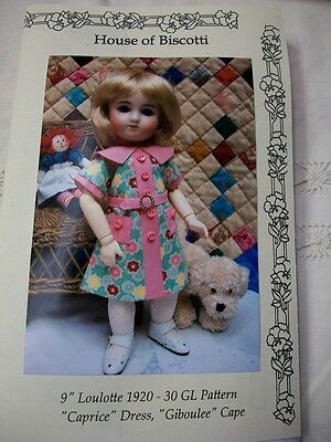 "9"" Loulotte PATTERN, ""Caprice"" Dress, Cape, Undies      Bleuette Friend"
