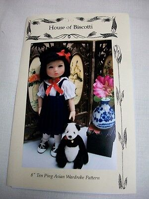 "8"" Ten Ping Asian Wardrobe Pattern, School Uniform, Kimono's"