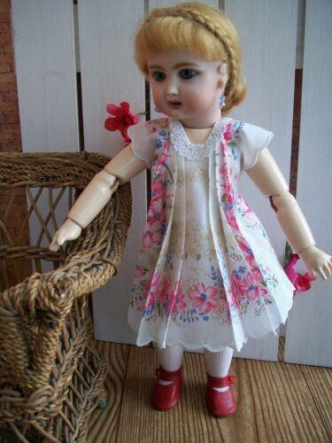 "11"" Bleuette  ""Paris Rose"" Hanky Dress and Slip  No Doll"