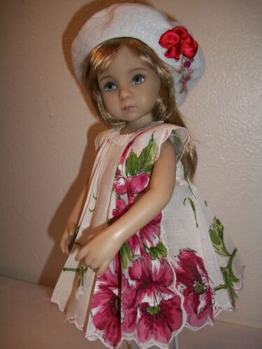 "13"" Effner Little Darling  ""Rose"" Hanky Dress, Slip, Beret  No Doll"