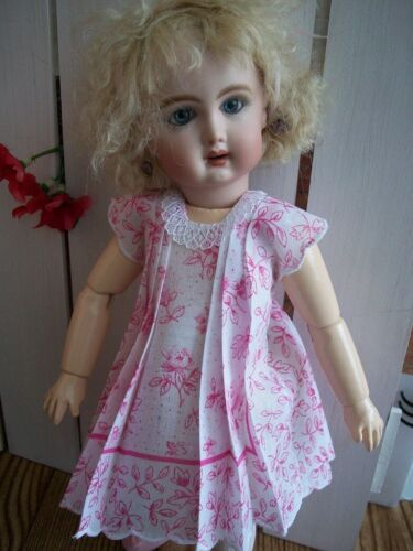 """11"""" Bleuette  """"Paris Country"""" Hanky Dress and Slip  No Doll"""
