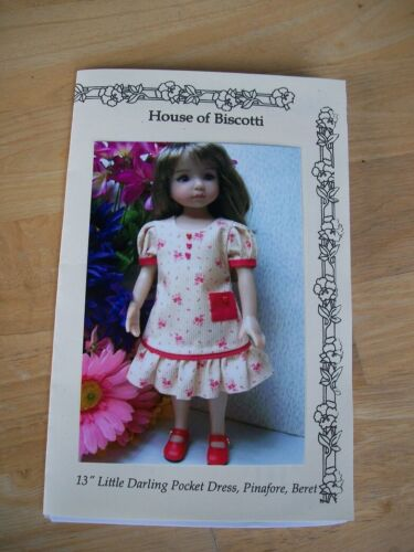 """NEW 13"""" Effner Little Darling size PATTERN for Dress with Pockets, Beret"""