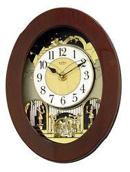 (New!) GRAND NOSTALGIA ENTERTAINER Musical Magic Motion Clock by Rhythm Clocks