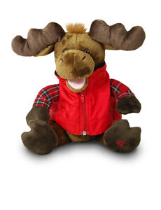 Cuddle Barn Animated Moose on Da Loose Hit Me With Your Best Shot Song Plush Toy