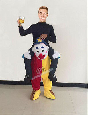 Birthday On Halloween (Halloween Ride On Clown Mascot Costume Adult Fancy Birthday Dress Cosplay)