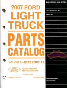 2007 MANUAL FORD PARTS CATALOG BOOK SERVICE REPAIR PART RANGER FREESTAR MONTEREY