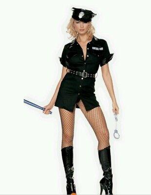 Sexy Kleid Polizei 5-teil. Outfit Gogo-Tänzerinnen Polizei Kostüm Sexy Police  (Gogo Tänzerin Outfit)
