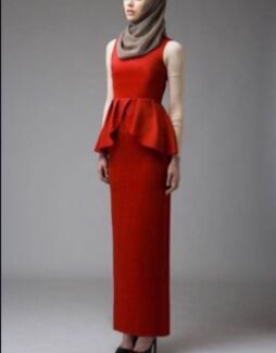 size 8 hijab house Red peplum dress Arncliffe Rockdale Area Preview