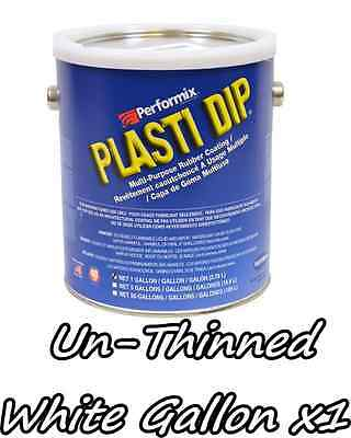 1 Gallon White Unthinned Performix Plasti Dip Concentrate Full Strength